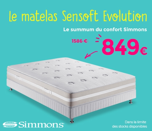 matelas simmons sensoft good matelas simmons lune x with matelas simmons sensoft top matelas. Black Bedroom Furniture Sets. Home Design Ideas